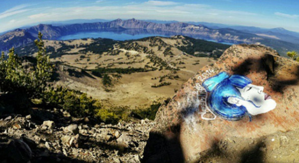 """Artist"" Defaces National Parks"